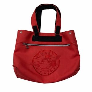 MICKEY MOUSE AIR RED TOTE BAG WITH LOGO EMBROIDERY